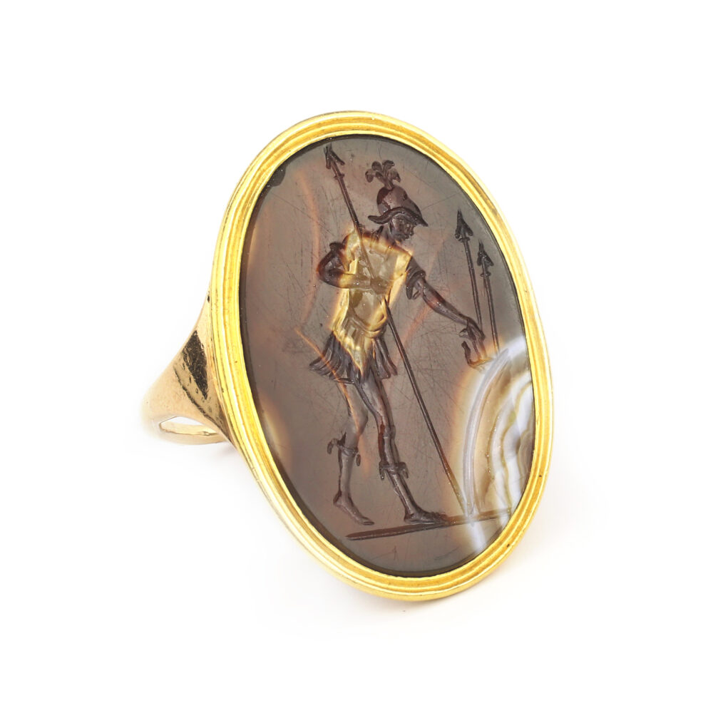 Antique Agate Cameo Ring