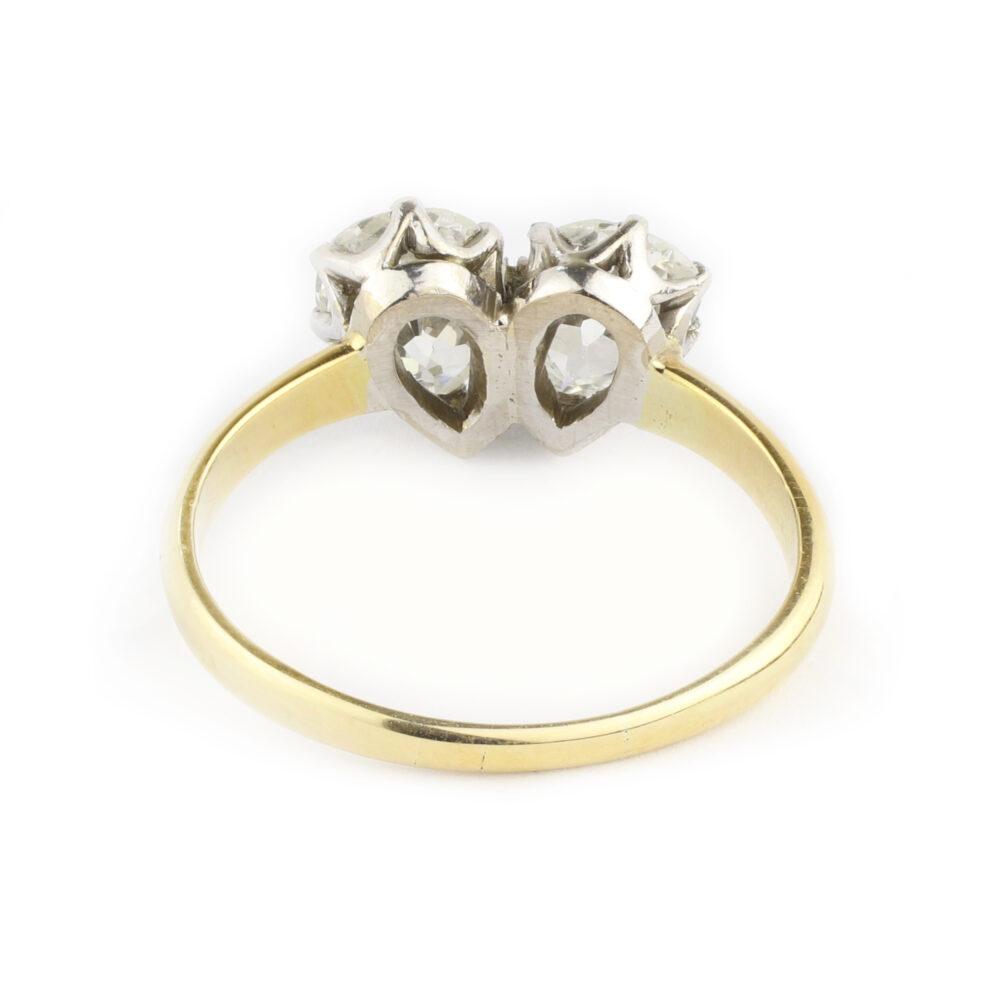 Diamond Twin Stone Ring