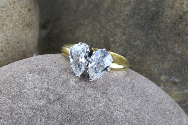 Diamond Twin Stone Ring