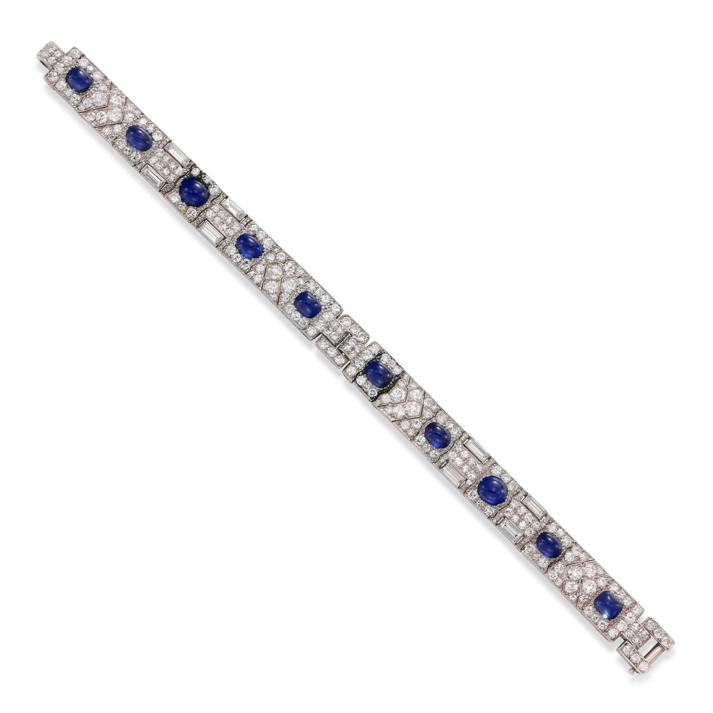 An Art Deco Sapphire and Diamond Bracelet, by Cartier, circa 1925