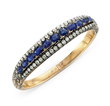 A 19th Century Sapphire and Diamond Bracelet