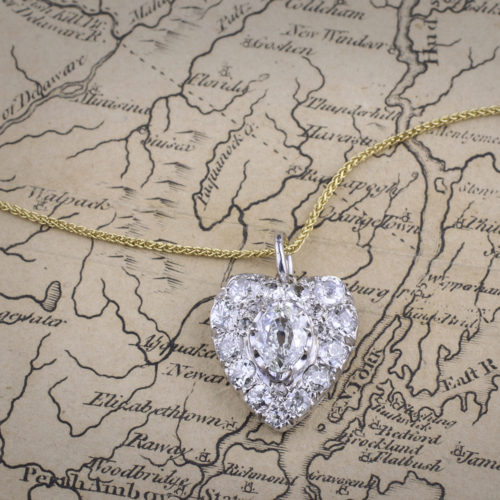 Diamond-set Heart Pendant