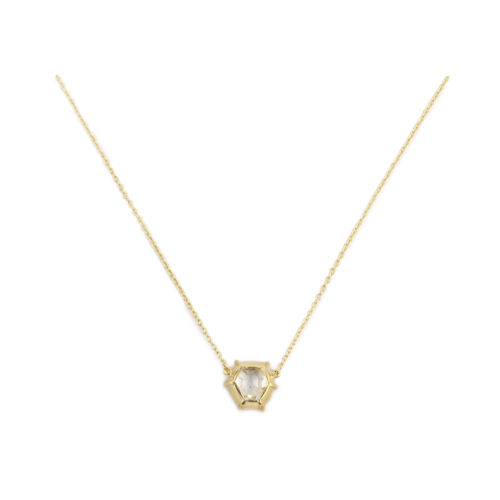 Octagonal Diamond Pendant Necklace