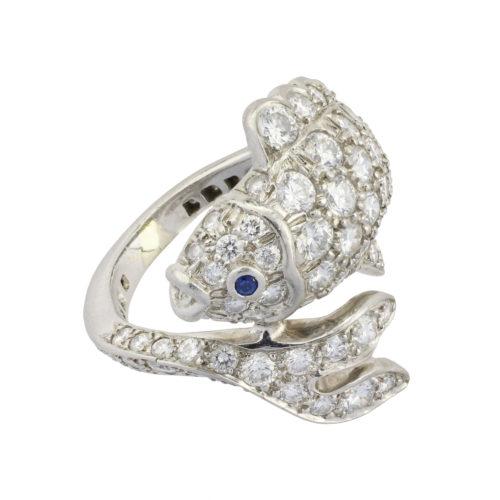Tiffany & Co Diamond and Platinum Ring