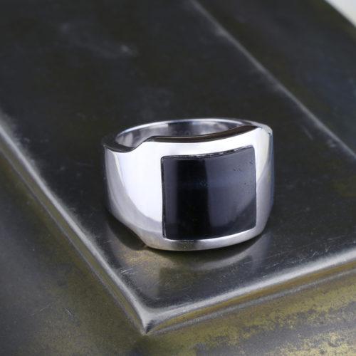 Cartier Santos Dumont Hawk's Eye Quartz Ring