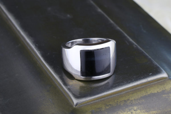 Cartier Santos Dumont Hawk's Eye Quartz Ring