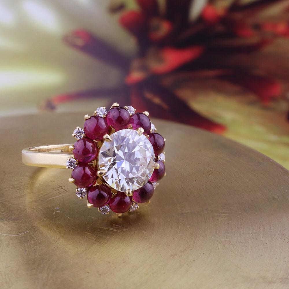 Bulgari Diamond and Ruby Ring