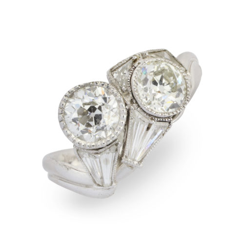 Kutchinsky Diamond Crossover Ring