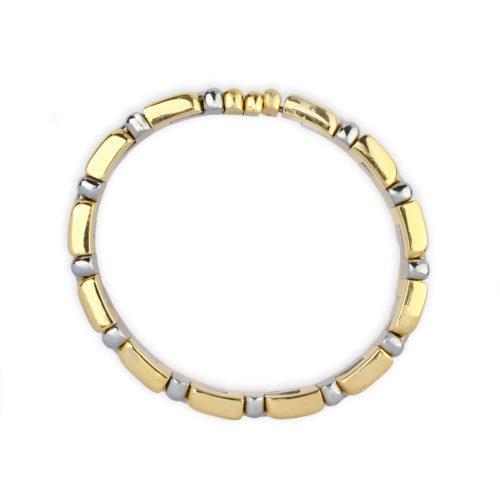 Bulgari Gold And Steel Bracelet