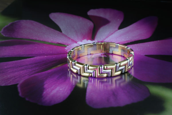 Bulgari Gold And Steel Bracelet