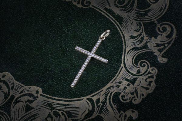 Antique Seed Pearl Cross Pendant