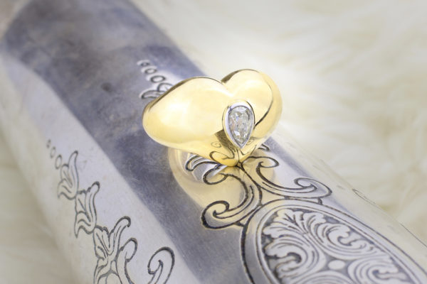 Chaumet Diamond And Gold Heart Ring