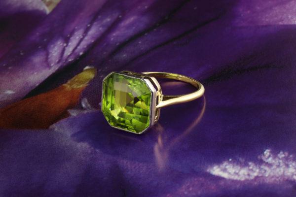 A Peridot Ring