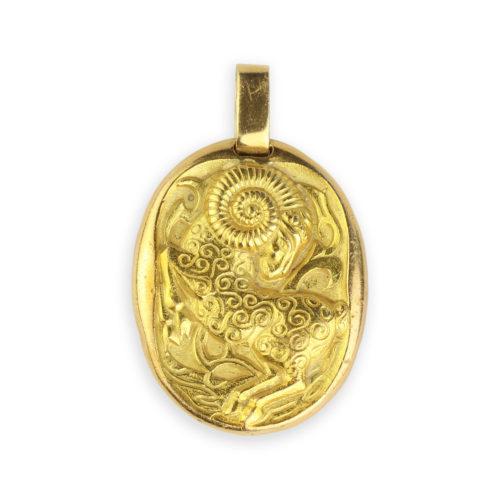Cartier Gold Zodiac Pendant