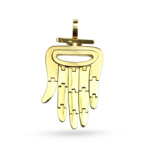 Aldo Cipullo Yellow Gold Hamsa Pendant