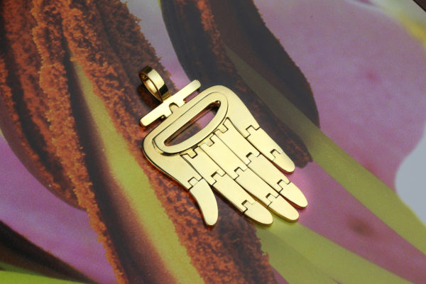 Aldo Cipullo Yellow Gold Hamsa Pendant