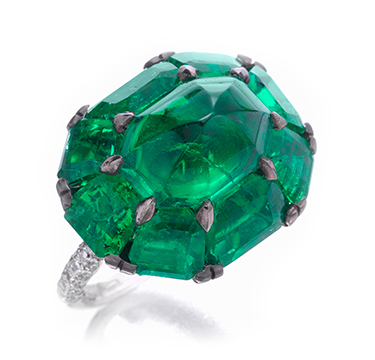 An Emerald and Diamond Ring, by BHAGAT