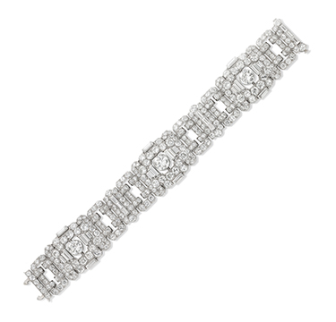 An Art Deco Diamond Bracelet, by Bulgari, circa 1925