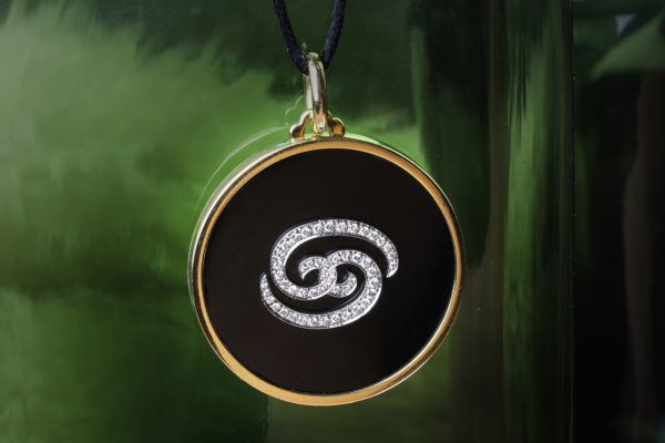 Bulgari Onyx, Diamond And Gold Cancer Zodiac Pendant