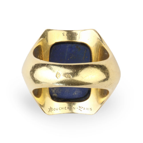 Boucheron Lapis Lazuli and Gold Ring