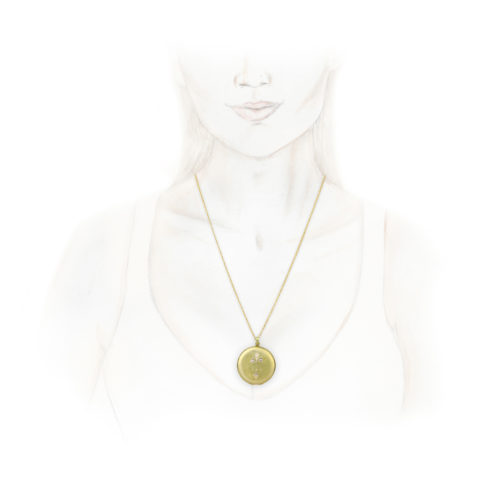 An Antique Gold, Diamond and Seed Pearl Locket Pendant