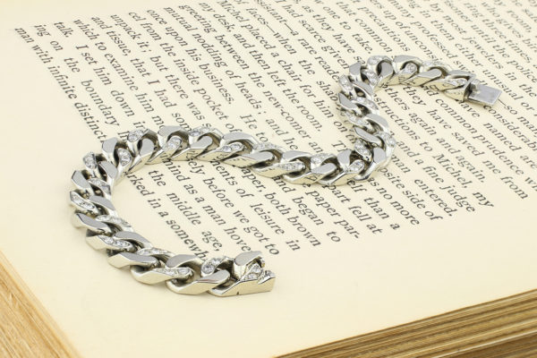 Van Cleef & Arpels Diamond And White Gold Link Bracelet