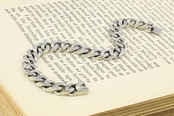 Van Cleef & Arpels Diamond And White Gold Link Bracelet