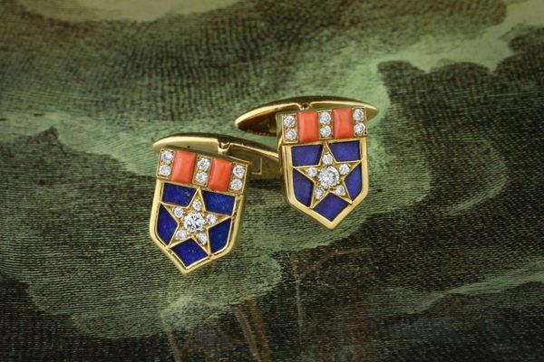 Bulgari Star & Stripes Cufflinks