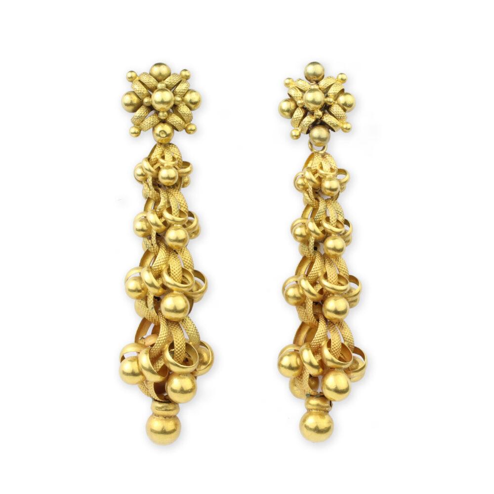 Georgian Gold Ear Pendants