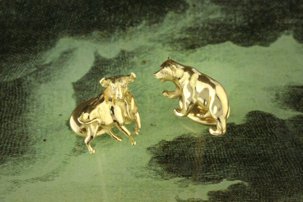 Tiffany & Co. Sculpted Gold Cufflinks