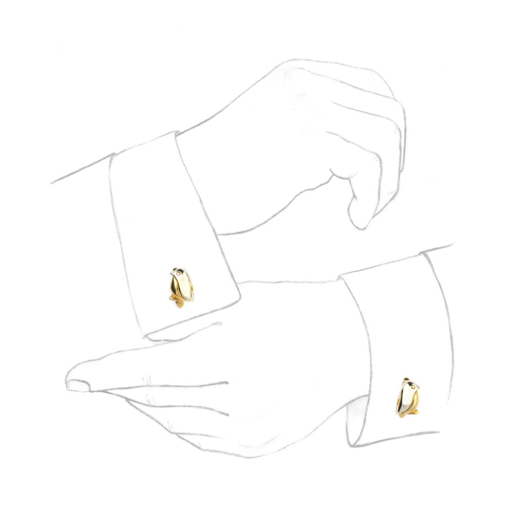 Bulgari Bi-Colored Gold Cufflinks