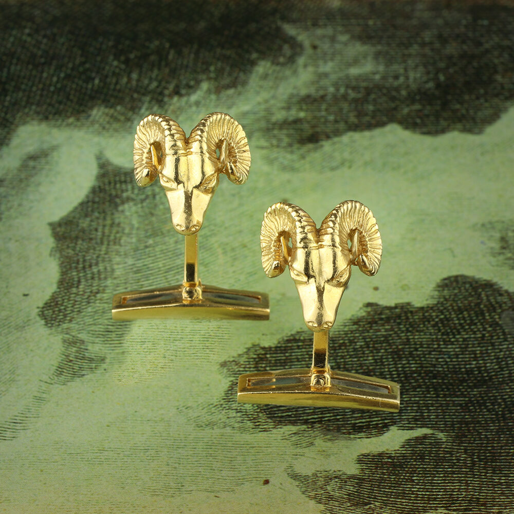 David Webb Sculpted Gold cufflinks