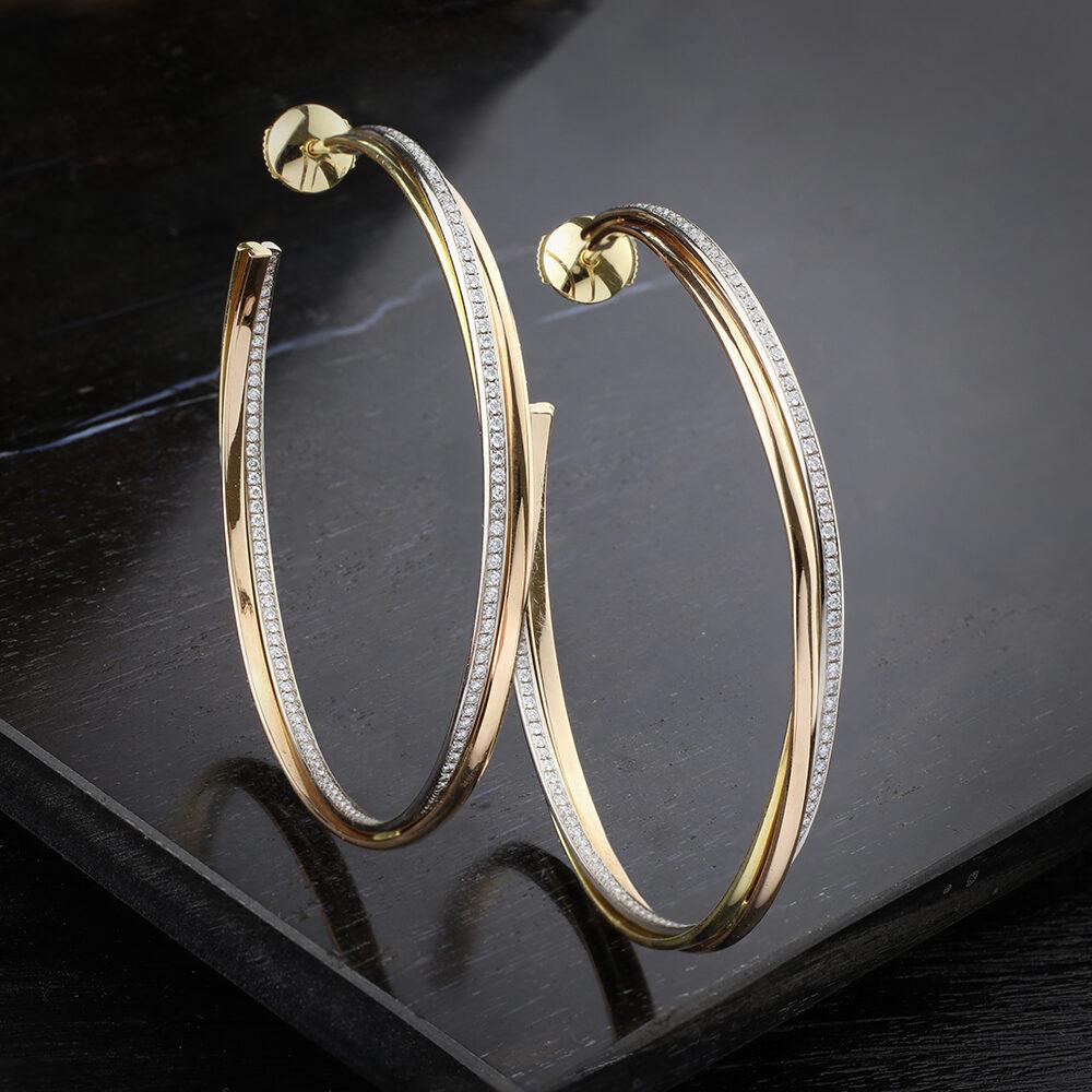 Cartier 'Trinity' Hoop Earrings