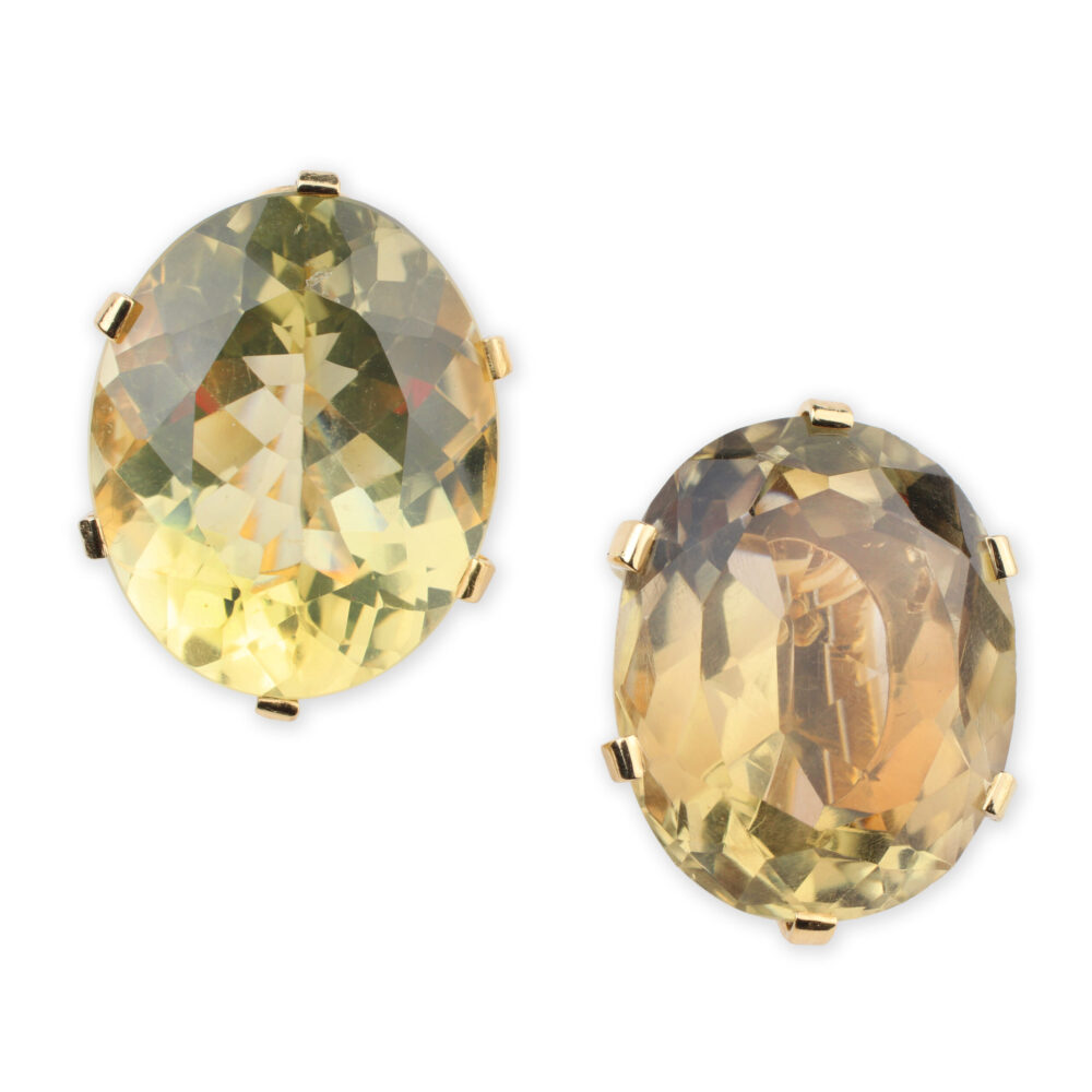 Van Cleef & Arpels Citrine and Gold Earrings
