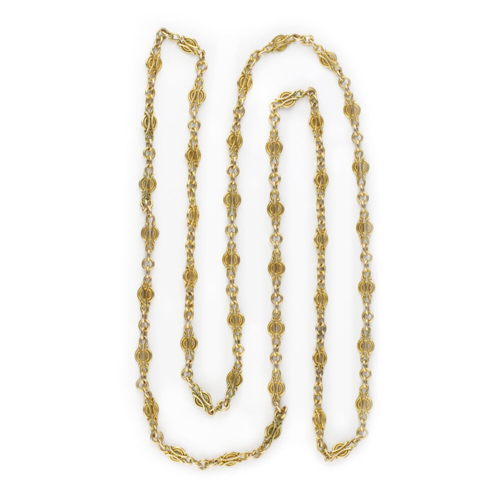 Long Gold Chain Necklace