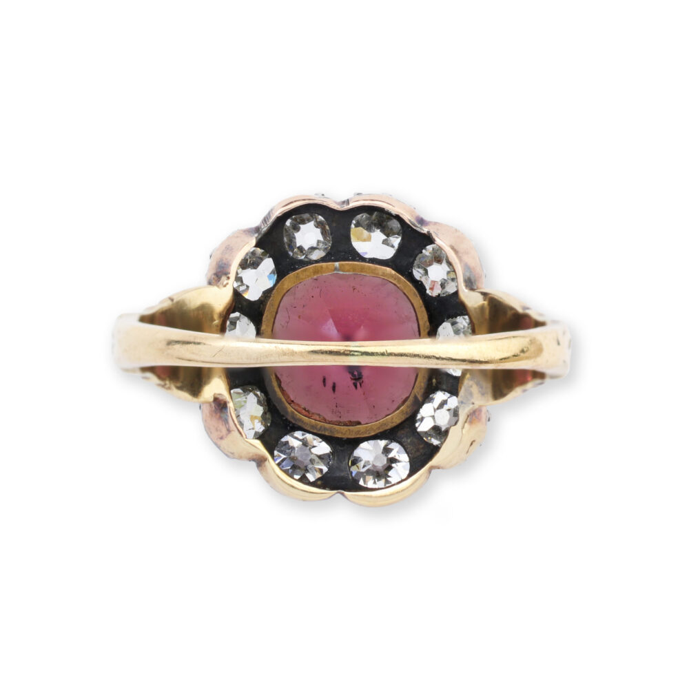 Antique Garnet and Diamond Ring