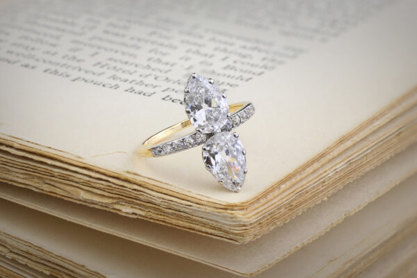Antique Platinum, Gold And Diamond Ring