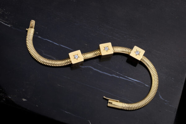 Retro Gold And Diamond Bracelet By Mellerio