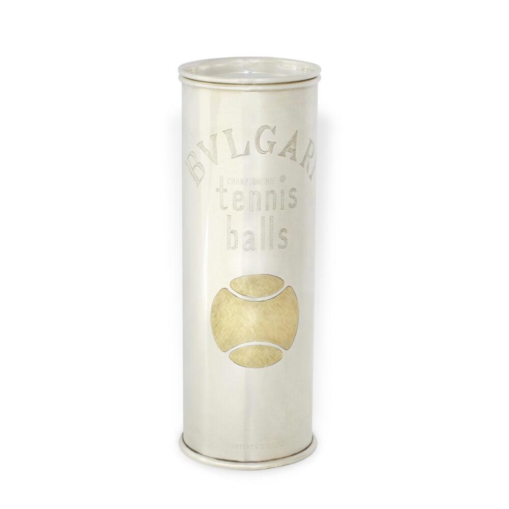 Bulgari Sterling Silver Tennis Ball Canister