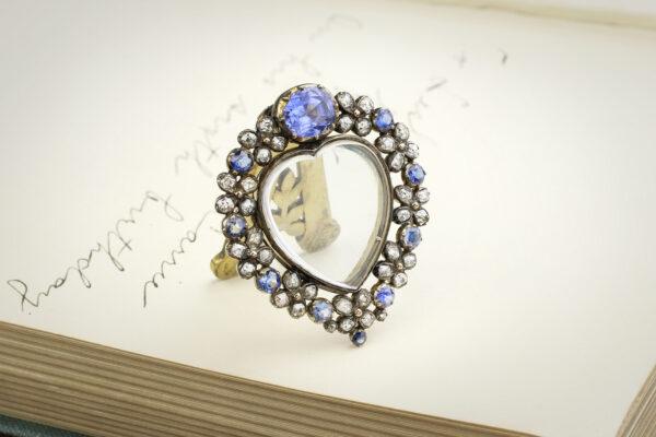 Antique Diamond And Sapphire Set Frame