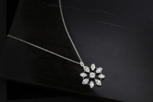Platinum And Diamond Pendant Necklace