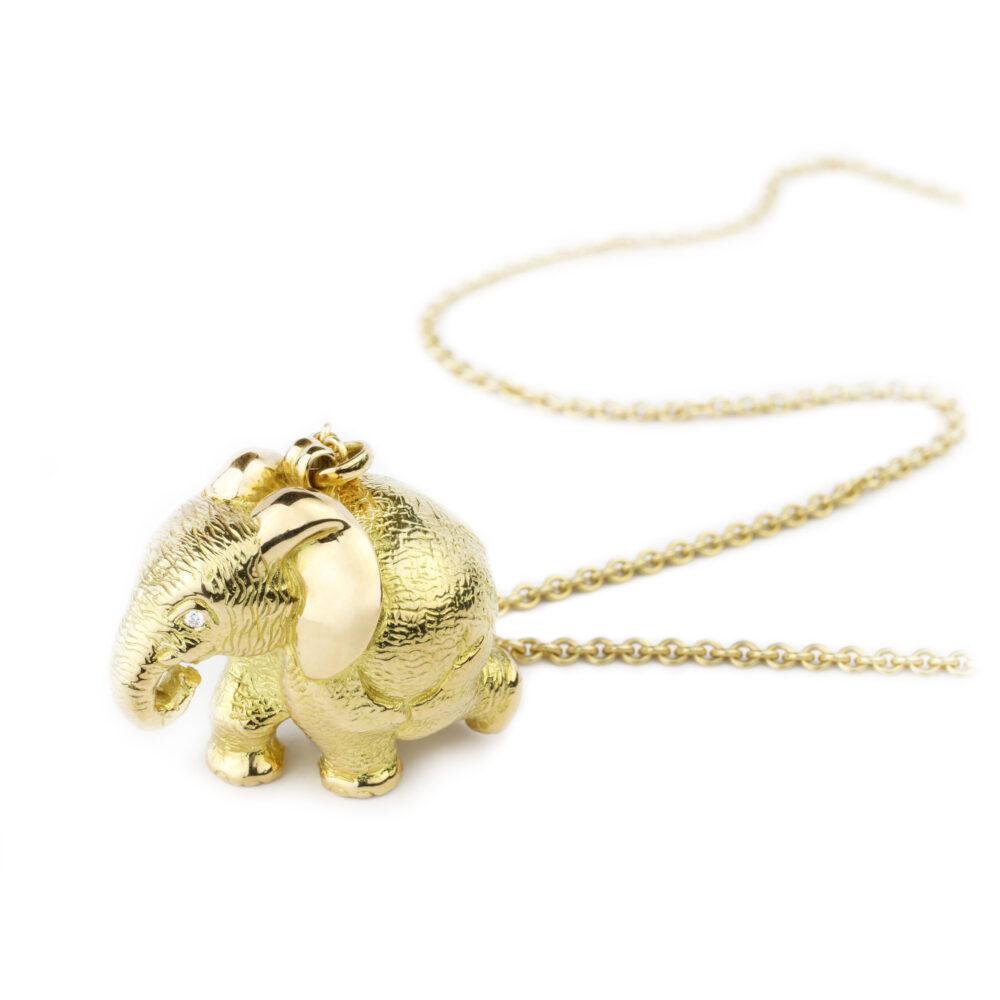 'Zozo' Elephant Pendant Necklace by Patrick Mavros