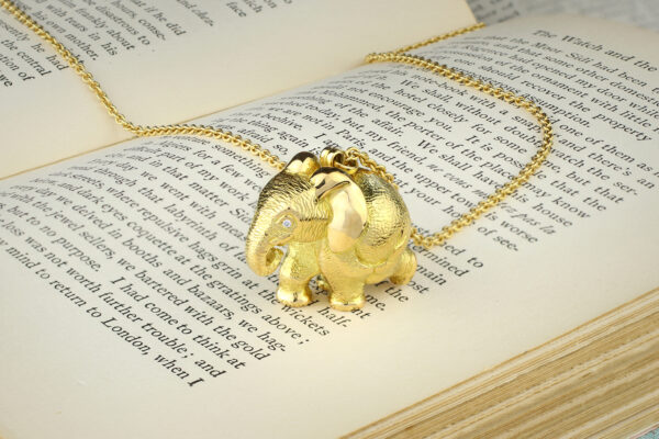 'Zozo' Elephant Pendant Necklace By Patrick Mavros