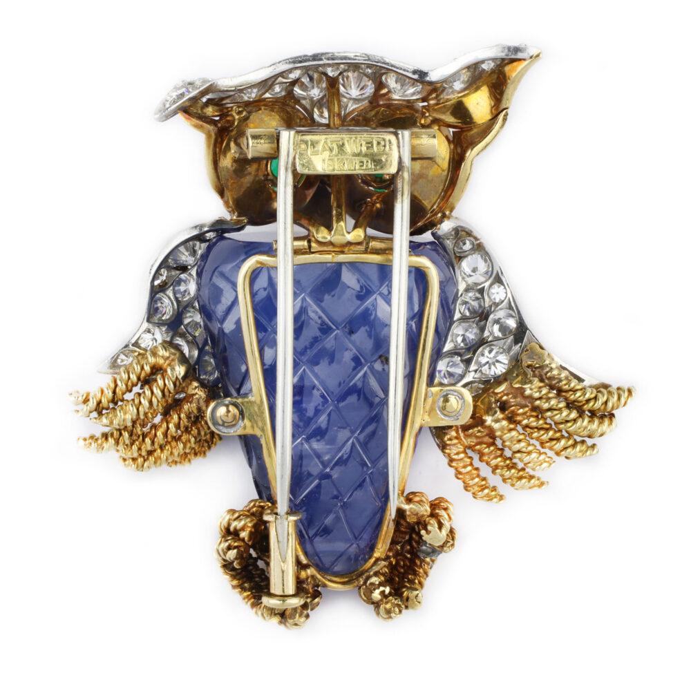 David Webb Multi-Gem and Diamond Brooch