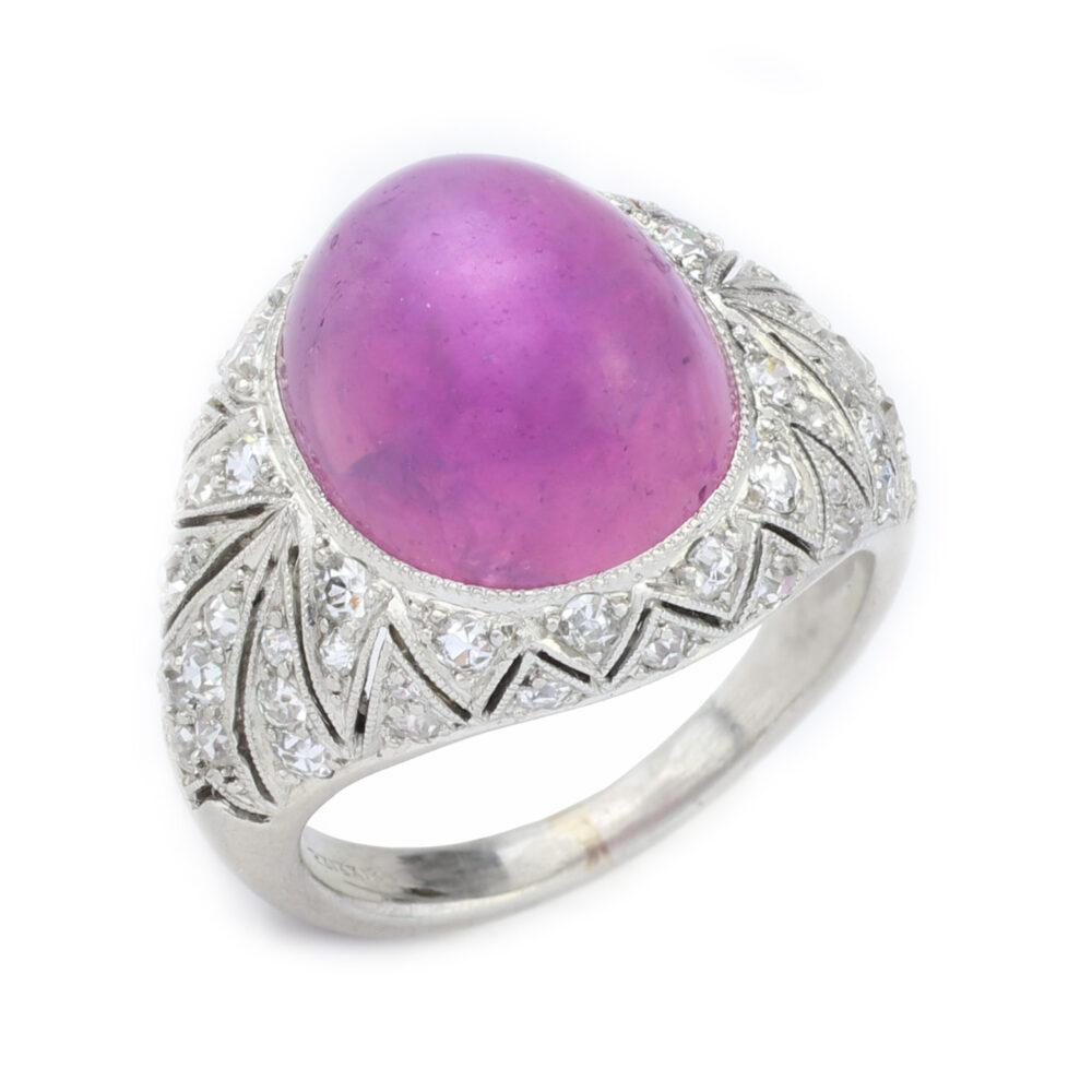 Cartier Purple Star Sapphire Ring