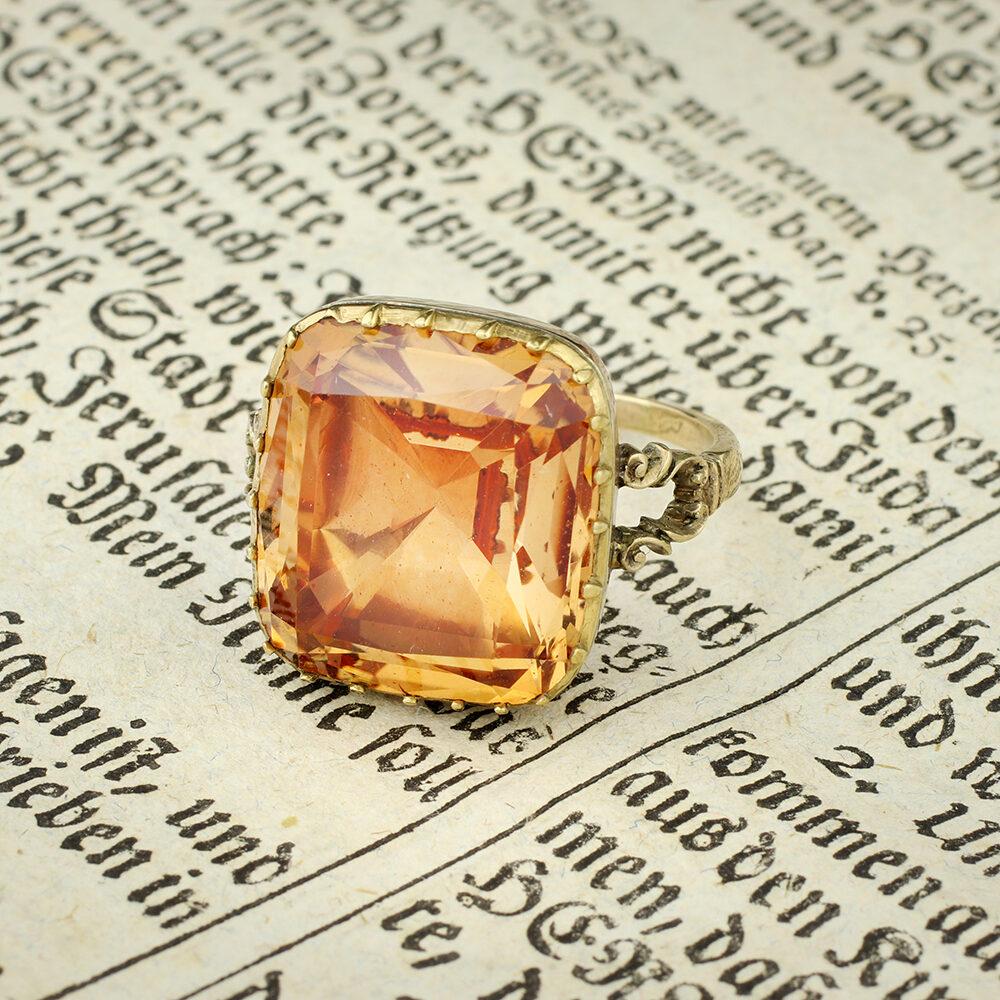 An Antique Topaz Ring