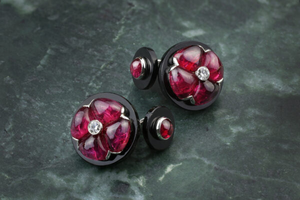 BHAGAT, Ruby, Onyx And Diamond Cufflinks