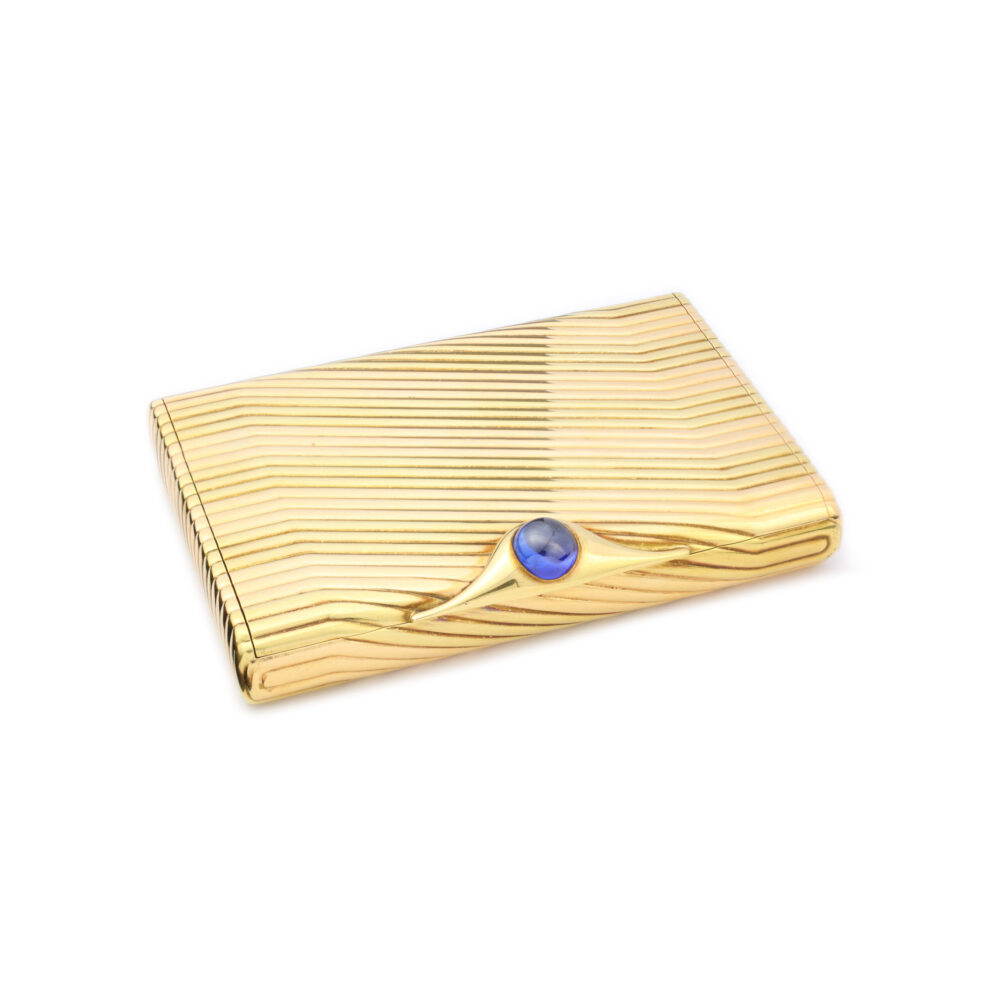 Bulgari Gold and Sapphire-set Case