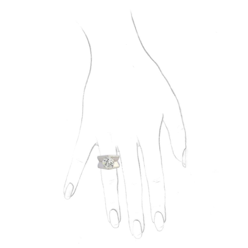 Cartier Diamond and Platinum Ring