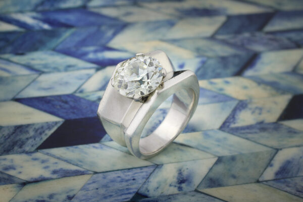 Cartier Diamond And Platinum Ring